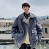Men's Jackets inverno jaqueta masculina de lã, parka grosso com zíper streetwear moda casual coreana vintage casaco masculino lã q