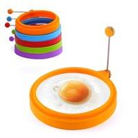 1 ADET Yuvarlak Kızarmış Yumurta Araçları Gıda Sınıfı Silikon Yumurta Yüzük Kalıp Fry Omlet Pancake Yapışmaz Yemeklik Aracı DIY Cupcake Pişirme Aksesuarları
