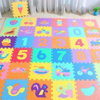 Baby Cribs 10Pcs set 30*30cm Number Animal Pattern Play Mat Puzzle Toys For Kids Children EVA Foam Yoga Cling Mats Floor Tapete