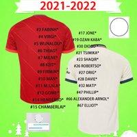 Футбольные трикотажки Reds 2021 2022 Home Red and Yellow Alexander-Arnold Henderson Футбол Джерси 22 22 Fabinho Millner Robertson Diogo J Рубашки