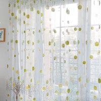 Curtain & Drapes Tulle For Living Room On The Window Kitchen Bedroom Filament Modern Short Screen Sheer-Curtains Blinds Dandelion