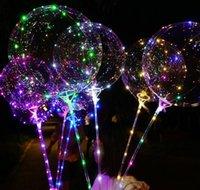 Neuheit gag spielzeug geschenke fall lieferung 2021 led transparente beleuchtung bobo ballballons mit 70 cm polschnur ballon weihnachten hochzeit deco deco