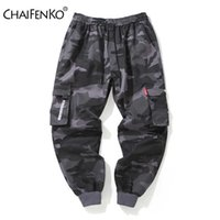 CHAIFENKO Brand Mens Joggers Pants Camouflage Cargo Pants Men Hip Hop Skateboard Jogger Fashion Casual Beam Feet Pant Men M-8XL A0525