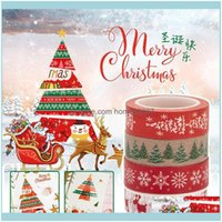 Gift Wrap Event Festive Party Supplies Home & Gardendiy Merry Christmas Xmas Decorative Washi Paper Snowflake Elk Adhesive Tape Year Scrapbo