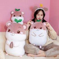 Soft Down Baumwolle kleine Hamster Flötenpuppe Plüschspielzeug für Kinder Bett Schlafendes Kissen Nette Maus
