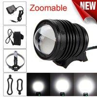 Zoomable T6 LED 5000 LM دراجة دراجة رئيس ضوء كشافات USB قابلة للشحن الجبهة LGT # 2A27 أضواء