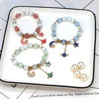 Boncuklu, Strands Bohemian Opal Kristal Kadınlar Kişilik Mizaç Moda Güzel Zarif Yıldız Ay Gezegen Boncuklu Bilezik Kız Aksesuarları G