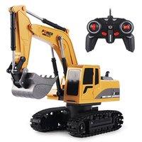 RC Bagger Spielzeug 2.4GHz 6 Kanal 1:24 RC Engineering Auto Legierung und Kunststoffbagger 6CH und 5CH RTR für Kinder Weihnachtsgeschenk 210915