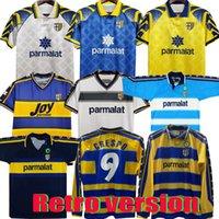 1998 1999 2000 TOP Parma Retro The goalkeeper uniform soccer Jersey 01 02 95 97 Home away 98 99 00 FUSER 8 BAGGIO 9 CRESPO 10 ORTEGA 11 AMOROSO Football shirt