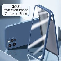 Front Tempered Glass + Thin Back cases for 12 Pro Max on IPhone 12Mini Phone Case Luxury 360-Degree Full Surround Shell