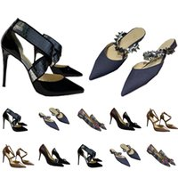 Sandales Femmes Femmes Femmes Femmes Grandes Talons hauts Diapositives Femmes Designers Designers Chaussures En Cuir Véritable Pompes Lady Slipper Mariage Bas de mariage