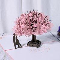 Tarjeta de aniversario 3D Tarjeta Pop Up Tarjeta Red Maple Regalos Hecho A Mano Pareja Pensamiento En Tarjetas Tarjetas De Felicitación Del Día De San Valentín Del Día De San Valentín