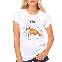 Hakuna Puk Matata Harajuku Kawaii Mujeres Tops Fox Cat Graphic Tess Tees Tresh Spirt Tripulación Ropa de verano para Plus