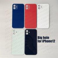 20pcs Big Hole Batter Battery Door Back Tuber Cubierta de batería Reemplazo para iPhone 12 Mini 12 Pro Max