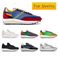 أعلى جودة LD حذاء رياضة أبيض نايلون أسود نايلون رجل شبكة أحذية النساء الأحذية السببية مع مربع حجم 36-46 MKQ
