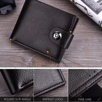 Wallets 1 Pcs Men Wallet Purse Short Design PU Leather Solid Color For Money Cards Coin1