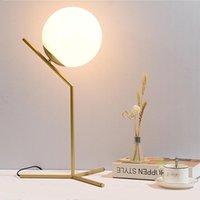 Table Lamps LED Design Lamp Nordic 5W 9W 40W White Black Gold Glass E27 For Bedroom Reading Room Dining Light