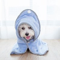 Dog Apparel Pet Towel Soft Quick Drying Bath For Cat Hoodies Puppy Super Absorbent Bathrobes Cleaning Necessary Supply