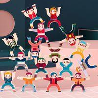 Nueva descompresión Fidget Toy Hercules Herculed Música Apilada Pila Balanced Alto Juego de escritorio Parental Building Blocks Toys EWB7827