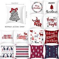 45*45cm Refreshing Throw Pillows Covers Christmas Square Cushion Cover Santa Claus Decorative Pillow Case Sofa Home Decor