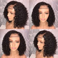 wigs Foruiya Lace Front African Small headgear Fashion Short Black plush synthetic lace Prussia Afro Kinky curling wigs