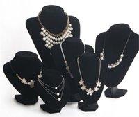 Toptan-15 * 15 cm Boyutu Siyah Ve Beyaz Kadife Kolye Mücevherat Ekran Standı Kadınlar Hediyeler Için Takı Holde Raf WH1 339 J2