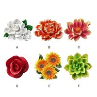 Fridge Magnets Reliable Pet Home Garden Resin Flower Refrigerator Stickers INS Cute Flowers Magnet Wall