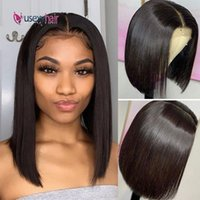 Lace Wigs Short 13x4 Front Human Hair 180 Density Brazilian Bob Wig With Baby Straight For Black Women