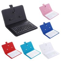 Portable Wireless Bluetooth Keyboard with PU Leather Case for Samsung Xiaomi smartphones within 7 inches Phone