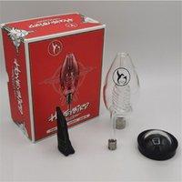 Honigbird Delux Kits Glas Rauchen Wasser Pipe Bag mit Titan-Tip Quarzt Nagel Keramik Wassermantel Kit Mini Bong Dabber-Werkzeug Parabolschale
