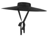 Gemvie Black Wide Rand Flat Top Stroh Sommer S Für Frauen Ribbon Strandkappe Boater Modische Sonnenhut mit Kinnriemen