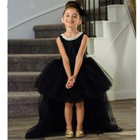 Girl's Dresses Flower Girl For Wedding With Big Bow Party Puffy Tulle Kids Clothes Children Infant Birthday Gowns