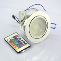 Downlights 10W Color AC85V-265V Change Remote Recessed Cabinet RGB LED Lamp Ceiling Spotlight DownLight Colorful Light For Home Room