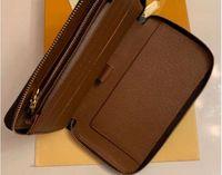 M60017 Zippy Cüzdan Bayan Zipped Anahtar Para Kart Tutucu Günlük Çanta Yüksek Uzunluk Fermuar Cüzdan Kadın Zip Manşonlar Çanta Yok Kutusu