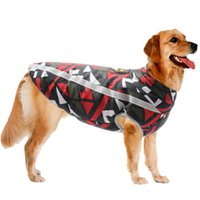 Dog Apparel Designer Autumn Winter Warm Thick Large Big Cotton Harness Coat Dogs Jacket Clothes Golden Retriever Pet Clothing
