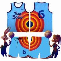Space Jam Jersey Kids Men James #6 Cosplay Tune Squad Basket Shirt Vest Shorts Summer 2021 Basketball Uniform Sports Suit