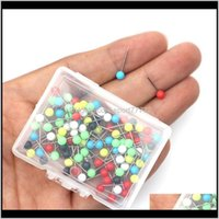 Aessories Sports & Outdoors Drop Delivery 2021 100Pcs Multi-Color Tacks Push Pins Plastic Head With Steel Point For Fasten Fishing Line Winde