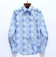 2021 Polka Dot Mens Designer Shirt Autumn Long Sleeve Casual Dress Shirts Style Homme Clothing M-3XL#42