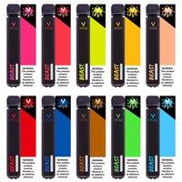 Оригинальные VFOG Beast 2000 Hits + Одноразовые ручки для весенок Cigarettes 15 Варианты цвета Батарея 1000 мАч Емкость 6,8 мл слойных баллонов