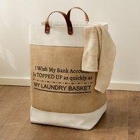 Grande linho saco de lavanderia para casa organização de armazenamento para roupas sujas pano brinquedos sundries blocos de construção recipiente de banheiro