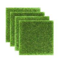 العشب الاصطناعي الاصطناعية الحديقة السجاد وهمية الطحلب العشب حصيرة مزرعة ساحة حديقة الديكور في الهواء الطلق البساط المشهد 15x15 سنتيمتر 30x30 سنتيمتر 1357 v2