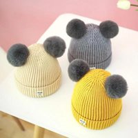Caps & Hats Bear Leader Winter Autumn Born Baby Hat Girls Boys Wool Cap Children Beanie Infant Toddlers Sweater Knit Cartoon