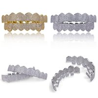Hip Hop Mens Diamond Dientes Grillz Teeth Gold Silver Luxury Designer Iced Out Grills Hiphop Rapper Men Fashion Jewlery Accessories 27 R2