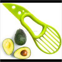 3 In 1 Avocado Slicer Multifunction Fruit Cutter Tools Knife Plastic Peeler Separator Shea Corer Butter Gadgets Kitchen Vegetable Tool Jth2N