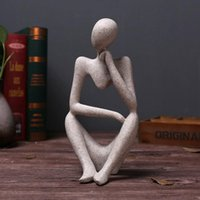 Forgetive Resin Statues Creative Abstract Thinker People Sculptures Miniature Figurines Craft Office Home Decoration Accessories.#jiu