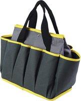 حقيبة أداة حديقة، 10 جيوب تخزين البستنة حمل حقيبة، أوكسفورد أداة تخزين أداة حمل المنظم مع الحديد