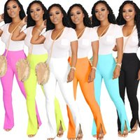 Women's Pants & Capris Candy Color Casual Women Flare Full Length Flares High Elasticity Bell Bottom Trousers Boot Cut Long