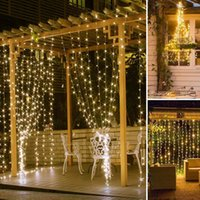 10Lot Twinkle Star 300 LED Christmas Decorations light Window Curtain String Light for Wedding Party Home Garden Bedroom Outdoor Indoor Wall , Warm White
