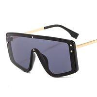 2021 الصيف الفاخرة الفاخرة إطار نظارات شمسية قطعة واحدة للرجال والنساء لمنع uv 400 الأزياء تصميم الطباعة سائق خمر