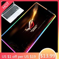 Mouse Pads & Wrist Rests Mairuige ROG Player Country Prodigal Eye Handsome Pattern Pad Cool RGB LED Marquee Game Table Mat